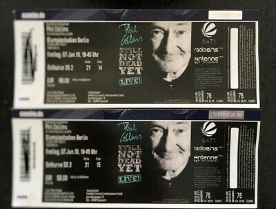 2x Tickets Phil Collins, Olympiastadion Berlin, 07.06.2019, Sitzplatz