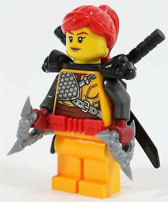 Lego Ninjago Elemental Master Ninja Skylor Minifigure & Swords - New Genuine