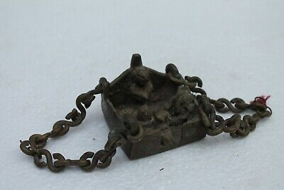 Old Hindu Traditional Indian Ritual Bronze Tribal Family Of God Shiva NH1083