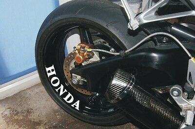 4 x HONDA WHEEL STICKERS  Motorcycle/Motorcross Vinyl Sticker Decals