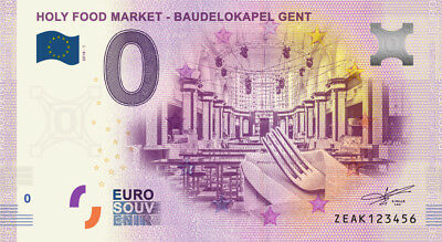 Billet Touristique 0 Euro --- Gent, Holy Food market Baudelokapel - 2018-1