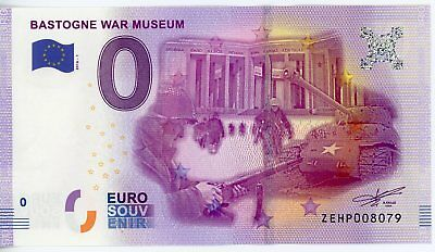 Billet Touristique 0 Euro --- Bastogne War Museum - 2016-1 (revers Big Ben)