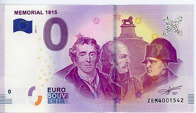 Billet Touristique 0 Euro --- Memorial 1815 (Waterloo) - 2017-1