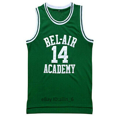 Will Smith #14 The Fresh Prince of Bel Air Academy Basketball Jersey Green