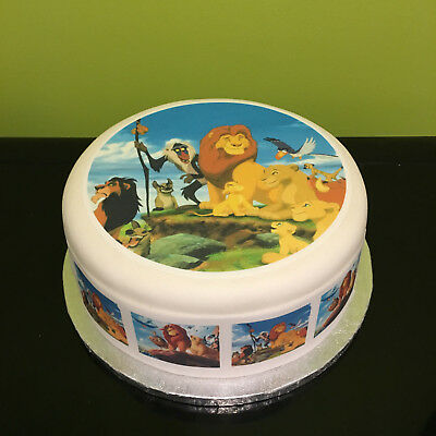 Lion King 02 pre-cut Edible Icing Cake Topper or Ribbon