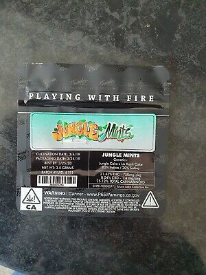 1x Jungle Boys Jungle Mints Mylar Bag (3.5g) Cali Tin