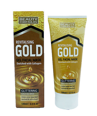 Beauty Formulas Revitalising Glittering Gold Gel Face Mask - 100ml