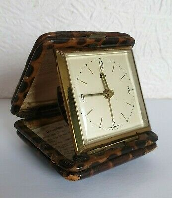 Vintage EMES Mechanical Travel Alarm Clock - Made in Germany