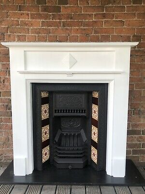 Falkirk antique cast iron fireplace With Surround DELIVERY £25  most UK