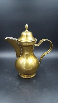 Vintage Brass Metal Creamer/Syrup Pitcher with Hinged Lid
