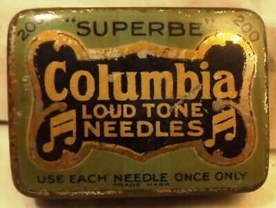 Columbia 84 Loud Tone Gramophone Needles In Tin, 1920s/30s