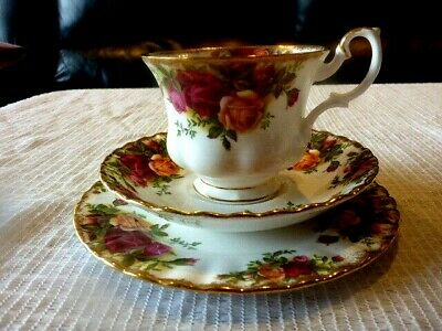 Royal Albert England Old Country Roses Tea Trio Cup Saucer Plate 1962+ Free Post