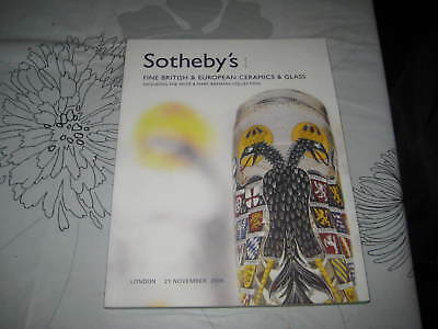 SOTHEBY'S CATALOGUE ENGLISH & european CERAMICS & GLASS inc biemann col NOV06