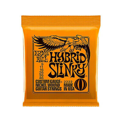 Ernie Ball 2222 Hybrid Slinky Nickel Wound Electric Guitar Strings 9-46 F7E1