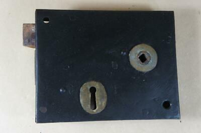 Vintage wrought iron rim lock 155mm by 125mm - no key or keep ( lot 15 )