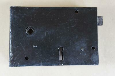 Vintage wrought iron rim lock 150mm by 100mm - no key or keep ( lot 9 )