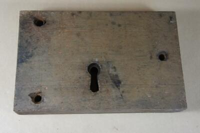 Antique wooden cased lock 230mm by 145mm by 33mm
