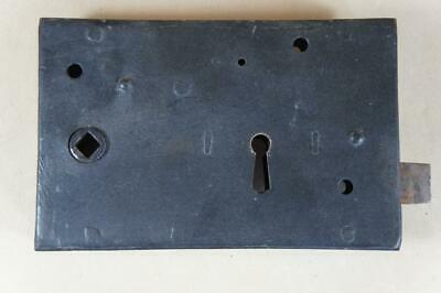 Vintage wrought iron rim lock 150mm by 95mm - no key or keep ( lot 6 )