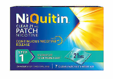 NiQuitin 21mg Clear 24 Hour 7 Patches Step 1 2/2020