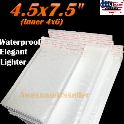 15 Mailers 4.5X7.5 (4x6 nch) Poly Bubble Padded Envelope Self-Seal Plastic Bags