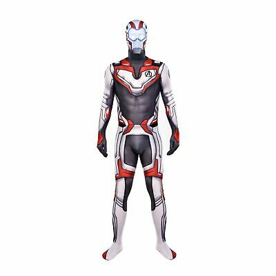 Avengers Endgame Quantum Realm Cosplay Zentai Costume Adult & Kid Suit and Mask