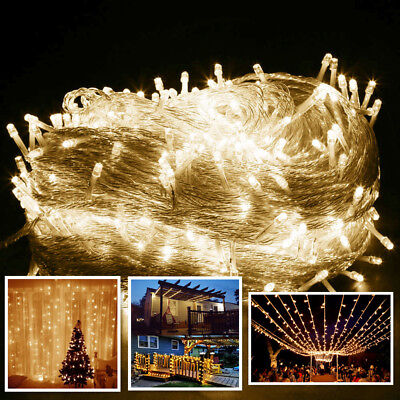 100M 500 LED String Fairy Lights Party Xmas Wedding Garden Lighting Warm White