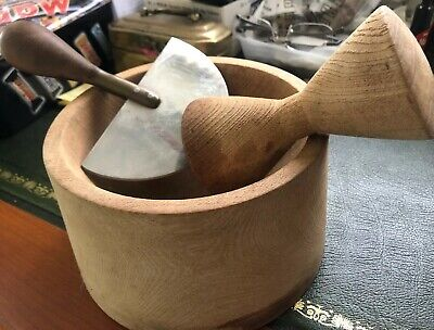 Unique hand made Wooden and Pestle and Mortar