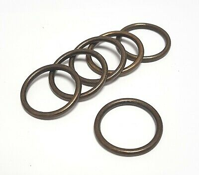 Metal O Rings Antique Brass Finish 20mm (3/4 Inch) For Luggage Rucksacks 10 Pcs