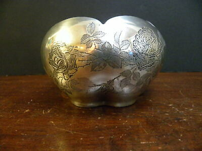 A Rare  Rockwell Sterling Silver Overlay Decorated Glass Art Deco Period