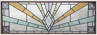 Large Art Deco Leaded Stained Glass Window
