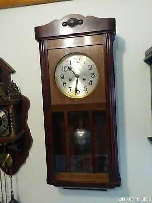 Antique Dufa Regulator Wall Clock With Gong