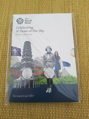 2019 50 Years of the 50p Uncirculated BUNC Kew Gardens Fifty Pence Coin Set **@