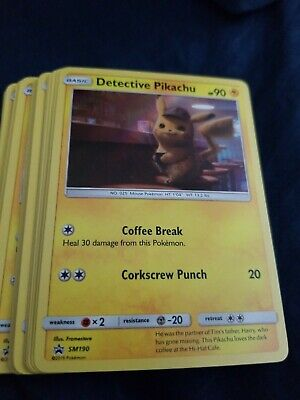 Pokemon Detective Pikachu Movie Promo Card Sm190 Holo Card - Limited Run