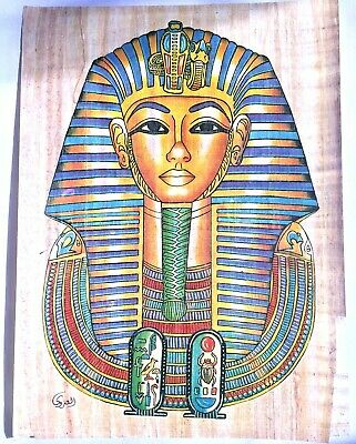 2 Large A3 30*40cm Egyptian Papyrus Painting Anubis Book of Dead King Tut