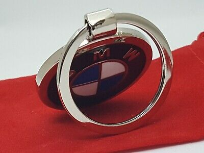 Double Sided BMW Beemer Logo Car Keyring  with FREE Red Velvet Gift Pouch