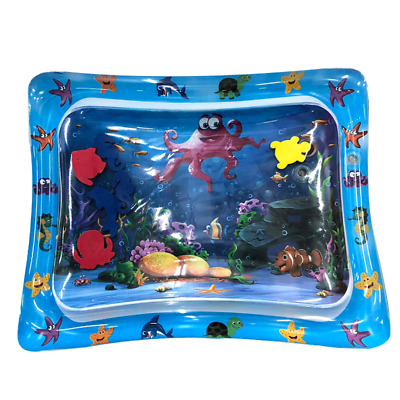 Inflatable Baby Water Mat Novelty Play for Kids Children Infants Tummy Time Blue