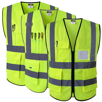2 pockets High visibility Safety Vest With Working Clothes Hi vis jacket
