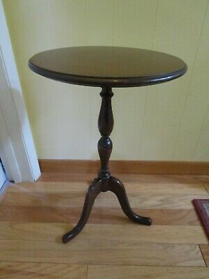 """Duncan Phyfe Mahogany Maple Lamp Table fern stand Grand Rapids 1930's 24"""" tall"""