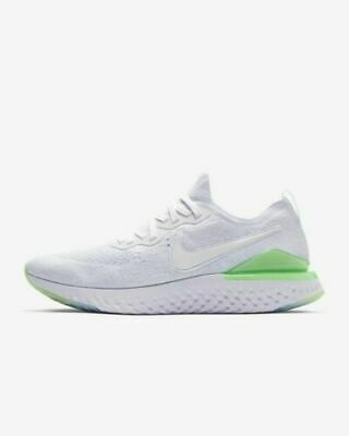 Nike Epic React Flyknit 2 Mens Key Lime Green White BQ8928-100 Size 11.5