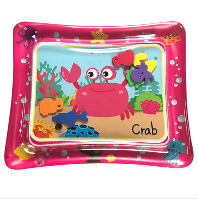 Inflatable Baby Water Mat Novelty Play for Kids Children Infants Tummy Time Pink