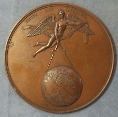 Pattern of reverse of Metrication measure  medal 1840  bronze cliche