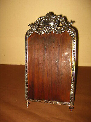 ANTIQUE EARLY VICTORIAN 925 STERLING SILVER PICTURE FRAME CADRE RAHMEN 19th