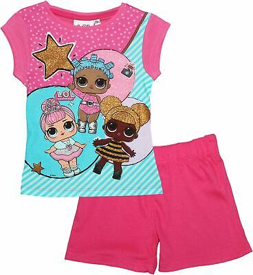 LOL Surprise Girls Panel Glitter Short Sleeve Pyjamas Set