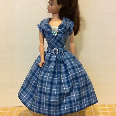 Handmade Dress For 11 1/2 Dolls (repro Barbie, Vintage,SilkstoneBarbie)c