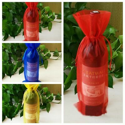 5 Pcs New Organza Gift Baking Packaging Bag Cookies Case Wine Pouch Box