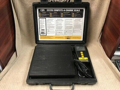 CPS COMPUTE-A-CHARGE REFRIGERANT SCALE MODEL: CC220 GOOD CONDITION Ships Free!!