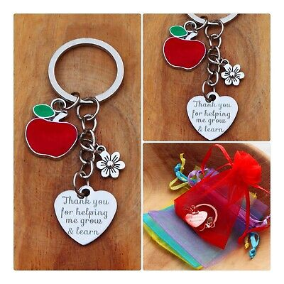 THANK YOU TEACHER GIFT Keyring -TEACHING ASSISTANT,NURSERY TEACHER - New