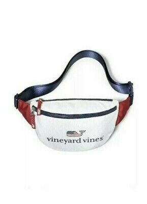 New Vineyard Vines for Target Flag Whale Fanny Pack America Red White & Blue USA