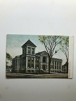 Concord New Hampshire State Library Postcard