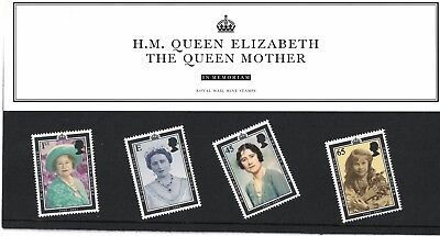 Uk Royal Mail Mint Stamp Set - H.m.queen Elizabeth - The Queen Mother 4 Stamps